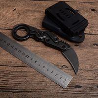 Nouvelle pierre lavée M390 Caswell Karambit Tactical Couteaux pliants de Camping Camping Chasse Survie Poche EDC Outils de Noël Cadeau de Noël