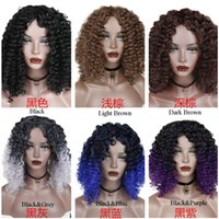 Afro Kinky Curly Wig Synthetic Hair High Temperature Glueles...