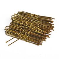 300PCS / الكثير / مربع متموجة الشكل U كليب دبابيس الشعر كليب تصفيف الشعر أدوات زينة مزين الشعر للنساء الذهب S M L