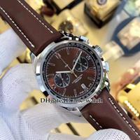 De haute qualité nouveau 42mm Premier B01 AB01181A1Q1X2 VK Quartz Chronographe Montre Montre Marron Cadran marron Bracelet en cuir brun Gent Montres de sport 6 couleurs
