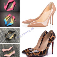Mit box mode frauen schuhe high heels 8 cm 10 cm 12 cm nackt schwarz rot rosa leder spitze zehen pumpen kleid schuh