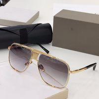 New MACH clássico cinco óculos estilo de moda homens sol óculos de metal do vintage ao ar livre eyewear moldura quadrada UV 400 lente com qualidade top case