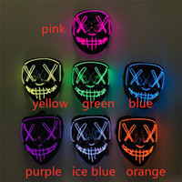 Nouveau Halloween Masque Masques LED Party Up Purge année d'élection Grande Masques drôles festival Cosplay Costume Fournitures Glow In Dark