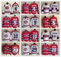 Vintage CCM Stitched Ice Hockey 4 Jean Beliveau Jersey 10 Guy Lafleur 9 Maurice Richard 29 Ken Dryden 5 Geoffrion Jerseys