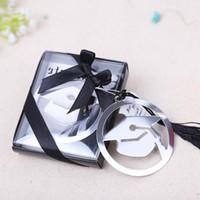 Abschluss-Kappen-Metallbookmark mit eleganten schwarzen Quasten-Party-Andenken-Absolvent-Party Faovr Geschenken für Gast LX7886