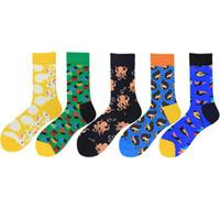 Красочные милый кролик белка печати шаблон искусства носки мужчины мода животных носки смешные хлопок Каваи Calcetines Hombre 2 шт.=1 пара