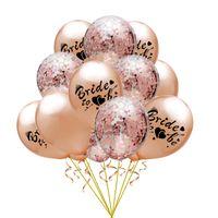 15pcs muito Noiva a ser Birthday Party balões de látex Confete Mix Detalhes do casamento de Rosa Bacharel Decoração Hélio Ballon