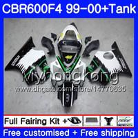 Body + Tank for HONDA CBR600 F4 CBR 600 F4 FS CBR600 F 4 287HM.15 CBR600F4 99 00 CBR600FS CBR 600F4 Green black hot 1999 2000 Fairings kit