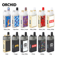 Orchid IQS Pod Kit 950mAh with 3ml Orchid IQS Pod cartridge top refilling Anti-leak for MTL  DL vaping 0.8ohm mesh coil e-cigs