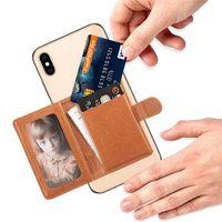 العالمي 3M ملصقا عودة فتحة بطاقة الهاتف جلد الجيب عصا على المحفظة النقدية معرف بطاقة الائتمان حامل للهاتف الخليوي حالة iphone xs ماكس xr