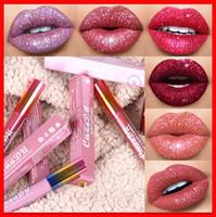 2019 cmaadu Kosmetik Diamant Shine Matte Metall Lipgloss Gitter Flüssig Lippenstift 6 Farben Regenbogen Röhrchen Lippen Make-up