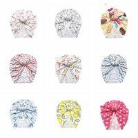 Baby-Hüte Mädchen Donut Indien Caps Schädel-Blumendruck-Hut Ins Knoten Turban-Kopf-Verpackungs-Baby-Mütze Stirnband Neugeborenes Headwears CZYQ6154