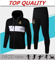 Top-Qualität 2019 2020 Real Madrid Fußballtrainingsanzug Kapuzenjacke Survetement 19 20 chandal echte Madrid Fußball Kapuzenstickerei Jacken