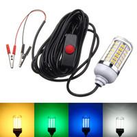 BRELONG LED Light di attrazione per acquari 12V Underwater Light 15W 108 LED IP68 Impermeabile LED Bait Night Fishing Light