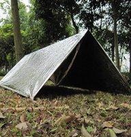 긴급 보호소 PET 필름 텐트 240 * 150cm 방수 은색 마일 라 (Mylar) 열 생존 대피소 쉬운 야영 천막 그늘 GGA3387-4을 수행하려면