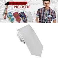 sublimation vierge blanche cols cravates enfants adultes attachent cardiature impression vierge bricolage personnalisé consommables matériaux en gros