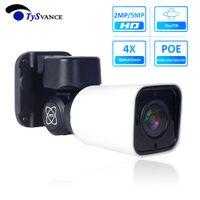 Super HD 5MP PTZ Bullet IP caméra extérieure zoom optique 4x P6SLite 5.0MP PTZ étanche IP66 IR 50M CCTV 48V POE