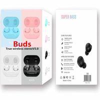 Buds Macaron Bluetooth 5.0 TWS Earbuds verdadeira Wireless Stereo Earphones TWS-08 Mini Protable Esporte Headphones Headset para Samsung Universal