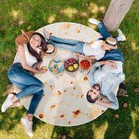 10 Designs Mexiko Tortilla Decke Flanell Runde Badetuch Klimaanlage Quilt Beach Blanket Teppich-Yoga-Matten-Wolldecke Picknick-Decke