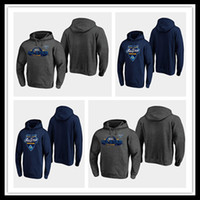 NWT 2020 All Star Game Hockey Jersey Hoodie St. Louis Blues Pullover Pullover Trikots Gray Navy Männer Womens Jugend genäht Gute Qualität