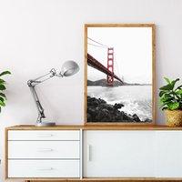 Ponte Golden Gate Bridge di San Francisco Stampa USA Fotografia Poster Wall Art pittura della tela Picture per Living Room Home Decor