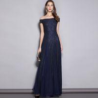 2019 das mulheres decote em v mangas curtas bordado rendas elegante noite baile de malha sexy colocado ao longo elegante longo vestidos de pista
