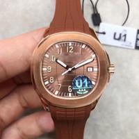 Автоматические часы классические 5167 серии 40 мм сапфир высокое качество механическое движение оригинальный резиновый ремешок складной пряжкой