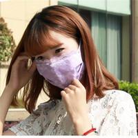 Mode dentelle vélo bouche Masque 5 Couleur antipoussière Visage Couverture Masques Femme Pare-soleil Mascherine respirateurs Fit extérieur Voyage 2JZ E1