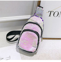 Women Mermaid Sequin Waist Pack Women Sequin Bag Lady Shiny ...