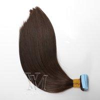 Fita extensões de cabelo, Natural extensões do cabelo humano Silky brasileira Virgem Cabelo Remy fita Multi Cores VMAE peruca 40 PCS 100g
