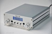 Trasmettitore FM trasmettitore radiofonico FM Freeshipping CZH-15A 15W FM color argento