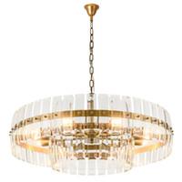 2019 Lustre De Cristal De Luxo Moderno Design Criativo Sala de estar Cristais de Ouro Luminárias de Luz Sala De Jantar Iluminação AC 90-265 V
