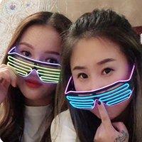 윈도우 새해 부활절 대학원 데이 파티 바 장식과 바 안경 파티 LED 안경 선 형광 번쩍이는 유리 빛나는