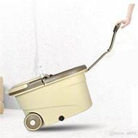 المزدوج محرك الممسحة دلو الروتاري Swabber برميل برميل عالية السعة غسل اليدين مجاني المنزلية جولة Floorclot الجاف الرطب ذات الاستخدام المزدوج 54hdrb1
