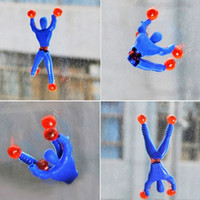 Climbing People Sticky Toys Superman Spiderman Climbing Wall...