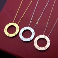 Round Circle Cartie Necklace Women Luxury Jewelry Stainless ...