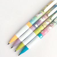 Niedliche Einhorn Automatische mechanische Bleistiftstudenten 2.0mm Bleistift mit Bleistiftschärfer Schulversorgung Cartoon Unicorn Bleistifte 1070