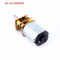 Freeshipping 10 pcs DC12V 2000 RPM N20 Micro Redutor de Velocidade de Engrenagem do Motor DC com Metal Caixa de Velocidades da Roda de Desaceleração Do Motor de Alta Qualidade