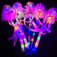 Kids Brinquedos LED Balloon Magic Light Sticks presentes Decra Valentine Wedding Party Balloon Emitting vara caçoa bowknot Luminous Handheld GB1381