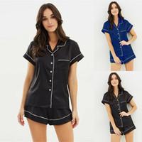 Conjunto de pijamas de satén de seda para mujer Ropa de dormir Pantalones cortos Babydoll Ropa de dormir Lencería