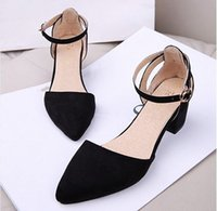 2019 new Square Heels Women Pumps Summer Women Heel Shoes Bl...