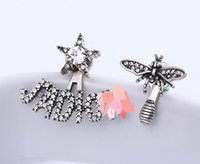 Have Stamps brand Asymmetry bee designer earrings for lady D...