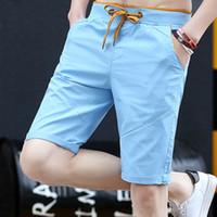 Shorts Männer Sommer Mode Solid Mens Shorts Casual Cotton Slim Bermuda Masculina Beach Shorts Klassische Knielänge kurz
