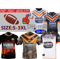 2019 2020 Western Tigers Rugby maillots chemises Top qualité 19 20 Australie Rugby tigres occidentaux maillot West Tiger Home away Rugby shirt S-3XL