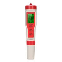 Medidor de calidad de agua digital 4 en 1 Tipo de pluma Medidor de pH Acidímetro profesional pH / TDS / CE TEMP Monitor de calidad del agua