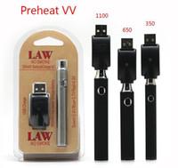 Lei pré-aquecimento VV Battery Charger Kit 350/650 / 1100mAh de pré-aquecimento O Pen Bud Toque Variable Voltage Vape Bateria Para G5 Grosso Cartucho de óleo