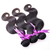 Rosa Productos para el cabello Virgen brasileña 4pc Brazillian Body Wave Tejido de cabello humano 100% Sin procesar Virgen La trama del cabello humano de Remy puede ser teñida