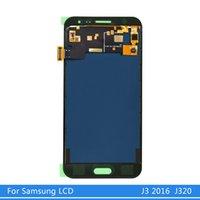 SAMSUNG Galaxy J3 2016 Ekran J320FN J320 J320F için SAMSUNG J3 2016 LCD + Dokunmatik Ekran Digitizer için LCD Ekran değiştirin