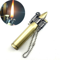 nieuwe retro mini kogel lichters brand metalen benzine sigaar-aansteker sleutelhanger hanger vlam kerosine olie lichtere mannen gadget