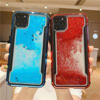 Para Iphone XS MAX Galvanoplastia Quicksand Líquido Phone Case para a Apple 10 XS XR 11 11 PRO nota 7 8 Plus Samsung 10 Bling Glitter Protective